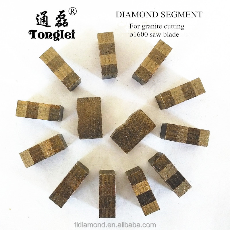 Professional manufacture 1600mm stone cutting diamond segment for cutting granite, basalt and bluestone and