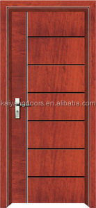 2016 interior solid meranti/teak veneer wooden design door