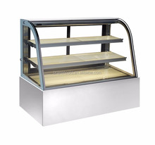 Stainless Steel Sandwich Cake Display Counter/ Supermarket Display Cake Refrigerator Showcase
