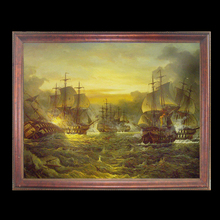 Chinese Large Plastic Baroque Picture Frame 8x10 with Antique Sailboat