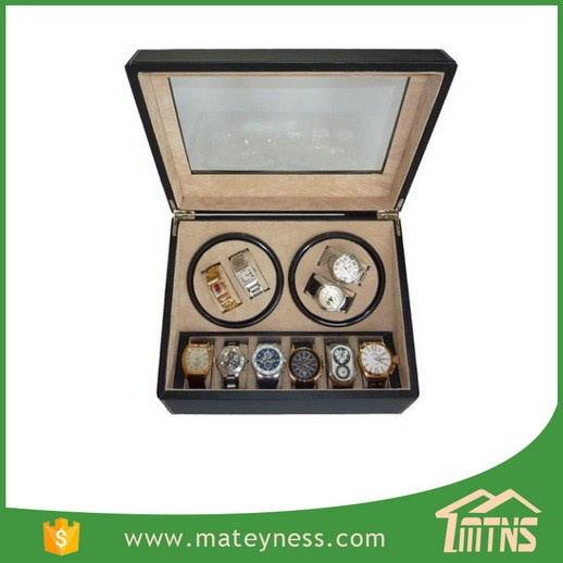 4+6 Automatic Rotation Leather Automatic Watch Winder