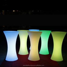 Event led furniture acrylic highboy bar RGB colorful lighted party cocktail table