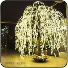 Warm white color led pussy willow christmas lighting led weeping willow tree lighting