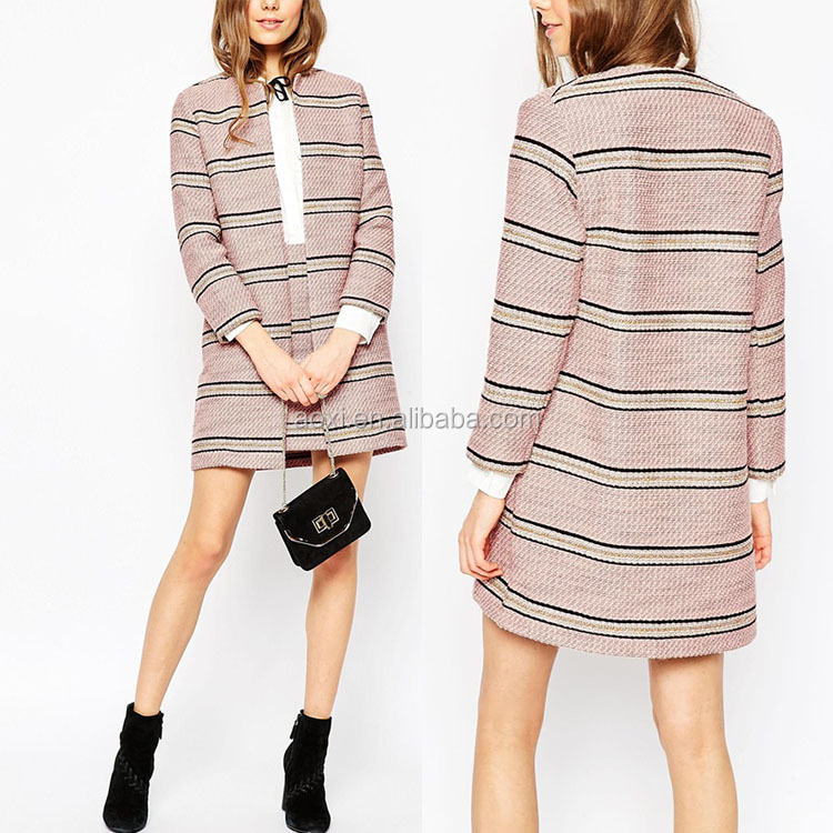 Alababa China Supplier Korea stripe elegant ladies western uniform skirts suits with side pockets 2016
