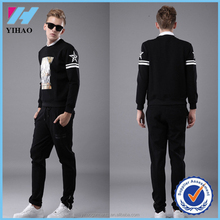 Yihao new fashion comfortable blank/white mens Breathable sports tracksuit and jogging suits