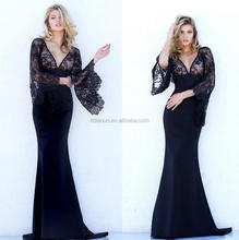 NN0081 Hot Sale Sexy Deep V -neck Hollow out Lace Fashion Dress Maxi Dress Slim long dress