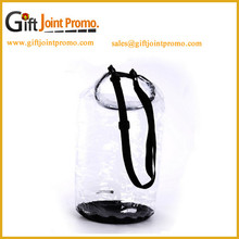 Newest transparent PVC Waterproof Dry Bag With Shoulder Strap