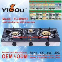YG-B9016 japanese gas stove tempered glass table tops gas stove stainless steel electrical appliance gas stove with hotplate