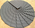 Heat resistant decorative building materials roof tiles
