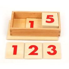 Montessori wooden educational equipment for school Numeral card