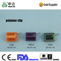 Disposable polymer clips for ligation plastic clip
