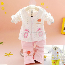 Light pink embroidered jumpsuit cotton footed pajamas