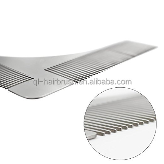 Stainless Steel Beard Styling and Shaping Template Metal Beard Comb Tool for Perfect Lines Symmetry