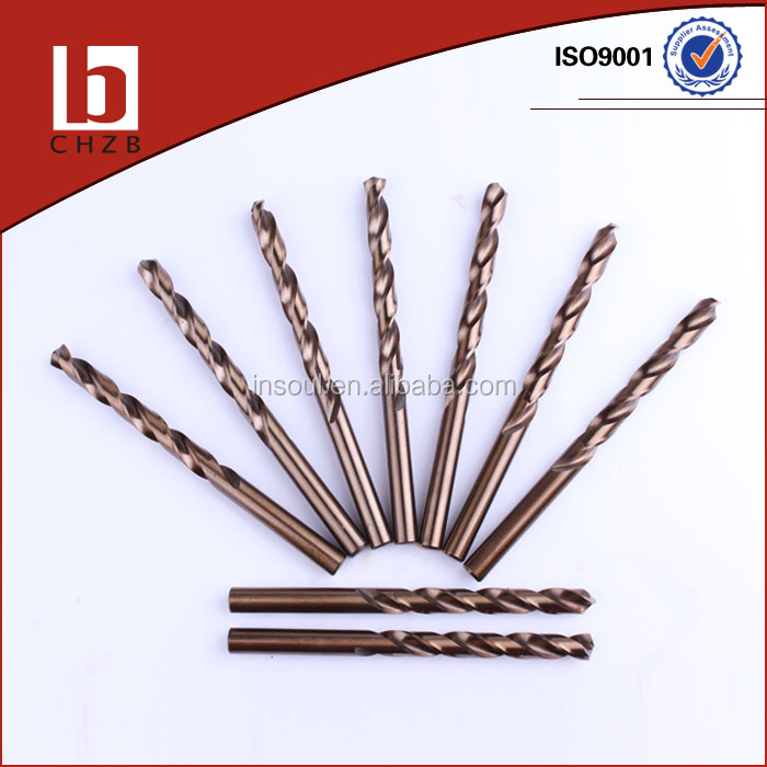 HIGH QUALITY DIN 338 FULLY GROUND HSS COBALT 5% DRILL BITS