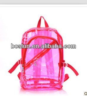 Hotsale transparent clear PVC School Bag