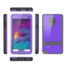 Shockproof Hybrid TPU + PC Armor Mobile Phone Case for Samsung Galaxy Note 4 antiwater