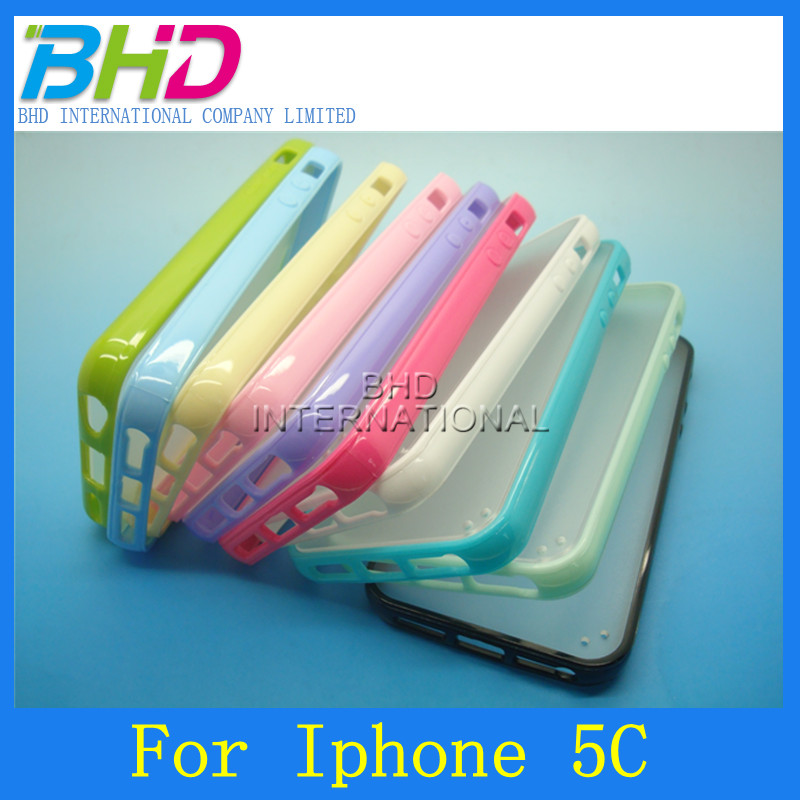 Colorful cute Plastic cell phone cover skin for iphone 5C