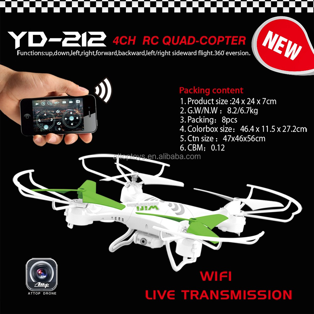 YD-212 Hot sell 2.4G 4ch wifi control quadcopter