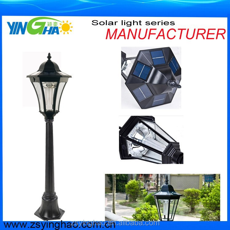 Hot sales manufacturer garden solar bollard light with 1.2M pole