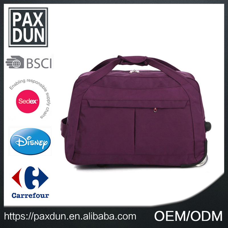 Fashion cabin size trolley bag popular pilot trolley bag weekend travel bag with shoes compartment