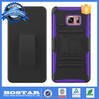 2016 Factory Wholesale foldable kickstand antislip phone back cover case for samsung note 7
