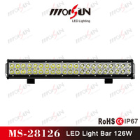 20inch 126W waterProof shake resistance Double row led roof light bar for 4x4 racing off road auto, ATV, 4 wheel parts