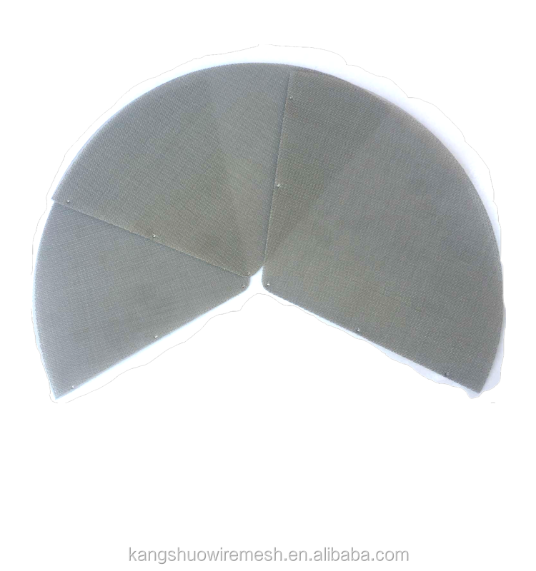 High Quality circular sector / fanshaped stainless steel wire mesh filter disc