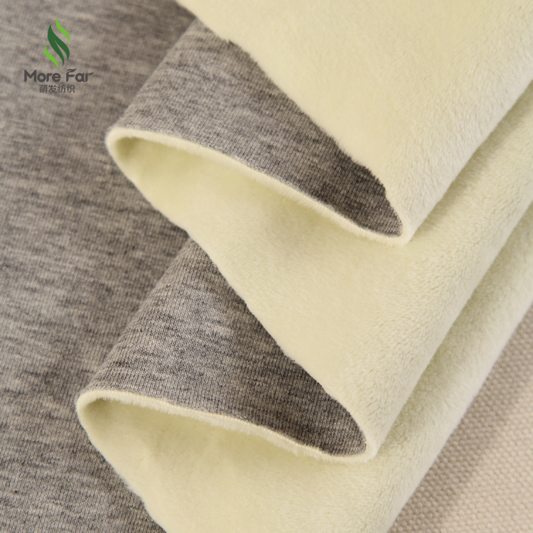 wholesale shaoxing knit cotton polyester micro velvet fleece <strong>fabric</strong> for pajamas and warm clothing
