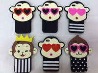 Silicone cell phone case cartoon monkey cell phone case cover for iPhone,mobile phone shell