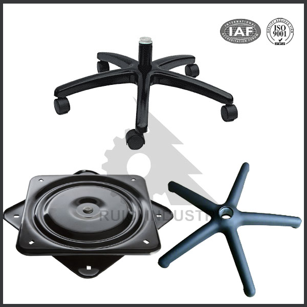 Dalian high quality OEM cast iron office swivel chair base parts