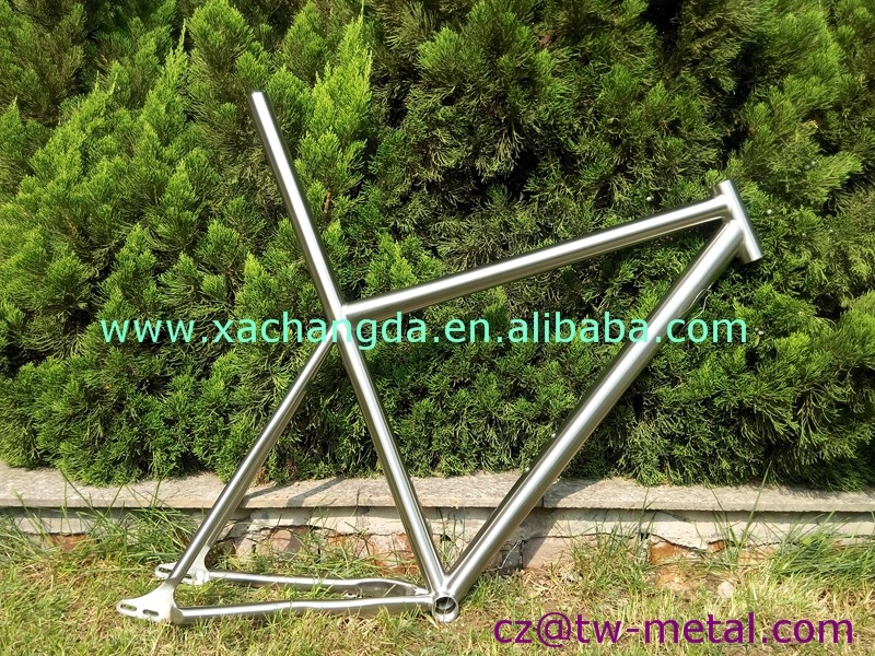 Inner line routing 29er long seat tube Titanium MTB bicycle frames Customized mountain bike frame