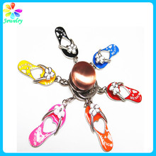 Custom dance keychain slippers six colors keychain mini shoe keychain