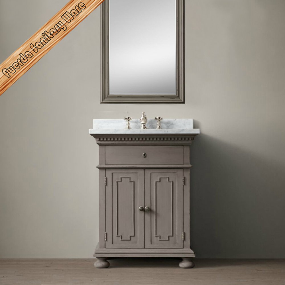 FED-1667A Cheap Single Antique Wood Bathroom Vanity