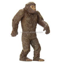 Brown Apes Big foot movble Action Figure/Make Custom simulation animals action figures/OEM lifelike action figures China Maker