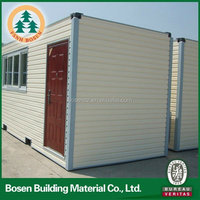 prefabricated mobile homes container house design for shop& living unit