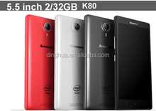 K80 K80M With Quad Core Android OS 4.4 ,1.83GHz Dual SIM 4000mah battery Multi language 5.5 inch lenovo phone