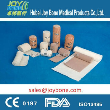 Surgical reusable elastic bandage with CE, elastic crepe bandage, Spandex bandage, stretch bandage