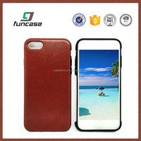 Custom pu leather mobile phone case for iphone 7, phone case wholesale