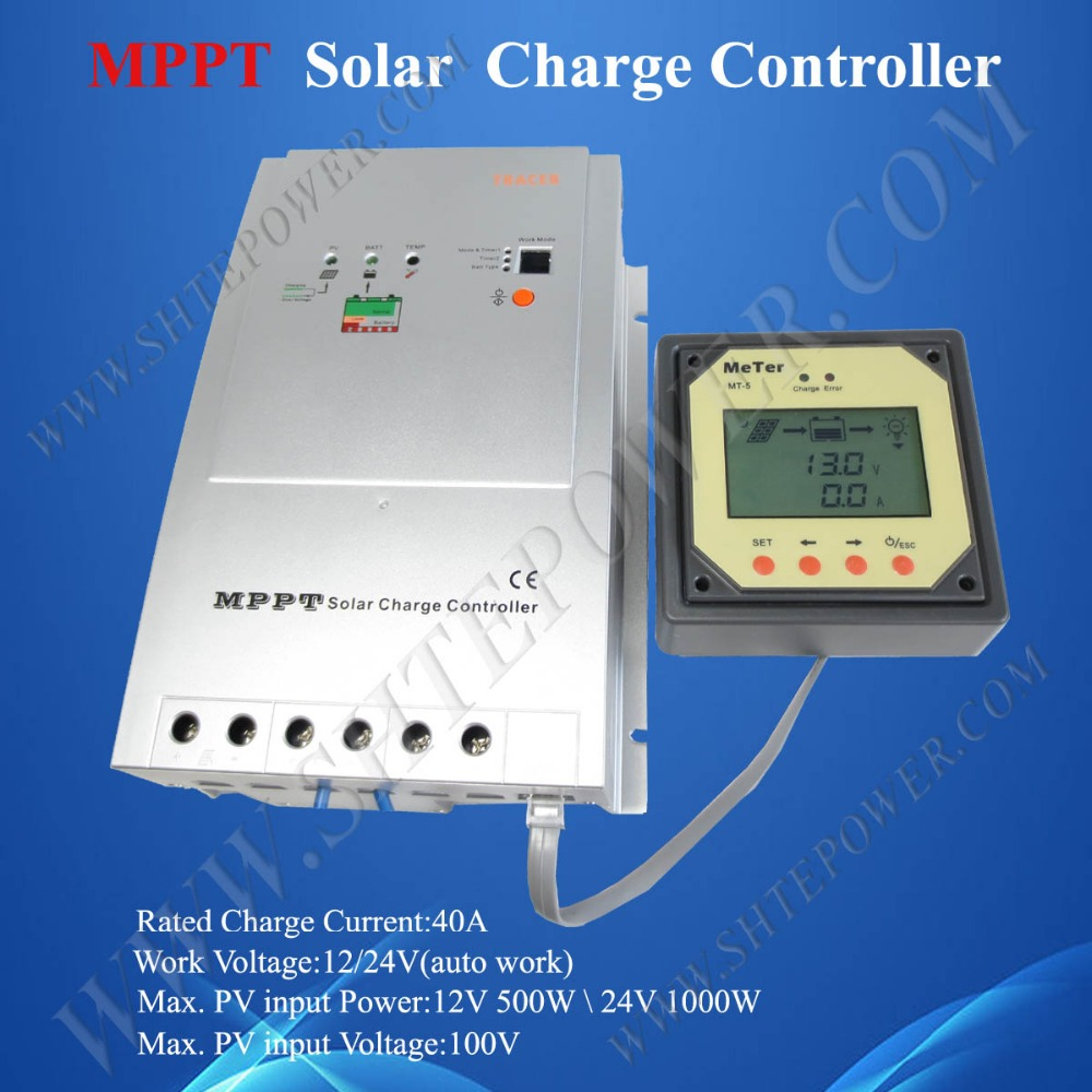 Wholesale Tracer 4210A max pv input 100v mppt solar charge ...