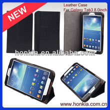 Promotion Stand PU Leather Tablets Case for samsung tab3 8.0 inch P3200