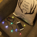 xmas 100 cm led balls string light with Dual tip charging cable