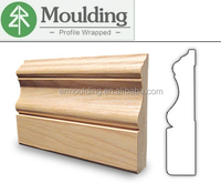 solid wood baseboard molding for interior decoration