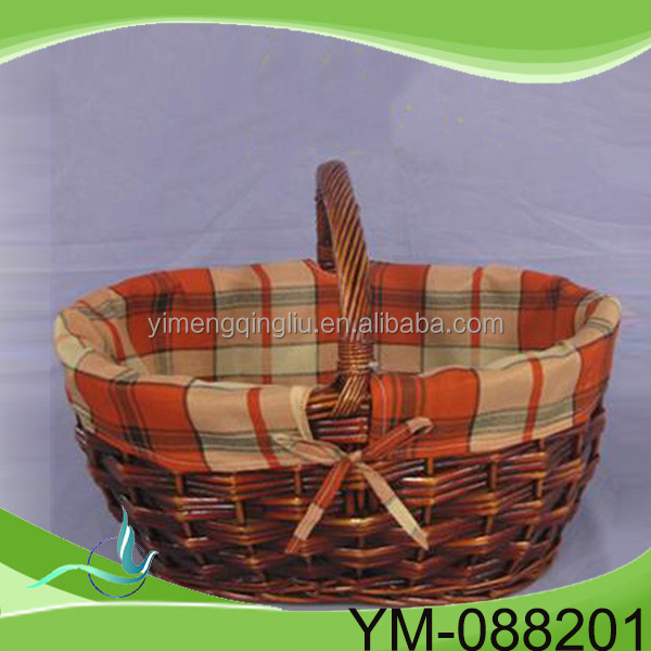 China new design popular Bassinet Shopping Picnic Wicker Pet Basket