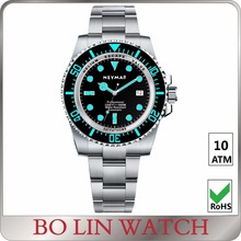 mechanical watch slim, diver watch case 40mm, dive watch BGW9 super luminous