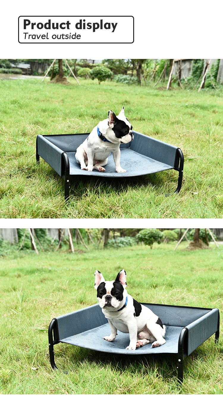 Wholesale outdoor elevated pet dog bed for large dogs,dog elevated raised dog bed