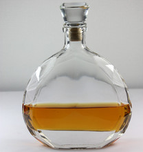 Factory High quality Clear bacardi XO glass bottle