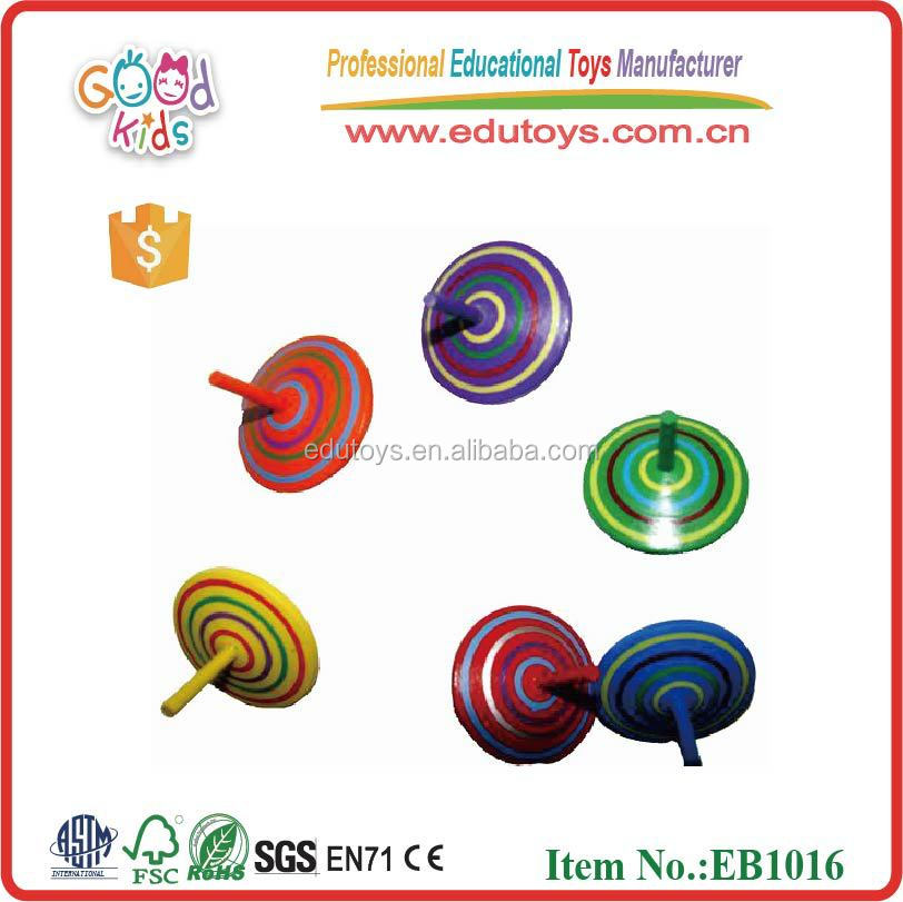 Wholesale 5 colours Fruit Shape Wooden Peg-top for kids