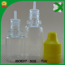 factory price plastic e liquid juice dropper drop bottle 8ml with childproof tamper lid