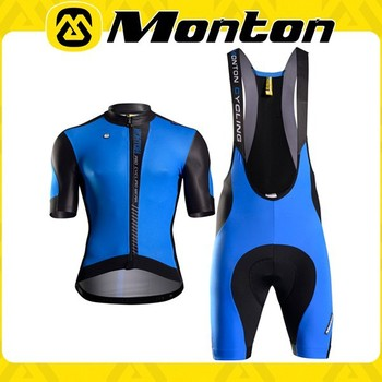 UV Protection Monton new design cycling short sleeve jersey and bib shorts 2015