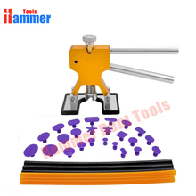 31pcs Paintless Dent Repair Tools Set PDR Golden Dent Lifter + PDR Glue Sticks + PDR Glue Tabs Auto Body Dent Removal tools Car